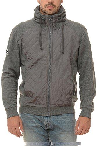 M.Conte Sweat Sweatshirt Jacket Uomo Sport Giacca Felpa Ricardo grigio XXXL