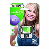 Fuji Micro Secure Digital 16GB Class 4 Flash Card and Adaptor