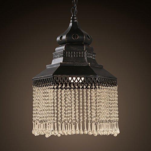 SSBY Cristallo americano Barber shop vintage lampadario industriale piccolo lampadario nero bar in stile caffetteria e carattere carving 345*500mm , bianco