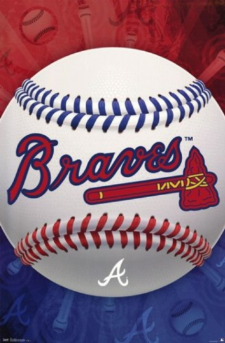 Atlanta Braves Logo Baseball Poster at Amazon.com