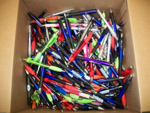 500 Wholesale Lot Misprint Ink Pens, Ball Point, Plastic, Retractable