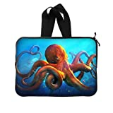 BALLEE Cool Animal Octopus Sticker 13 Inch Laptop Sleeve Bag with Hidden Handle for Laptop / Notebook / Ultrabook / MacBook