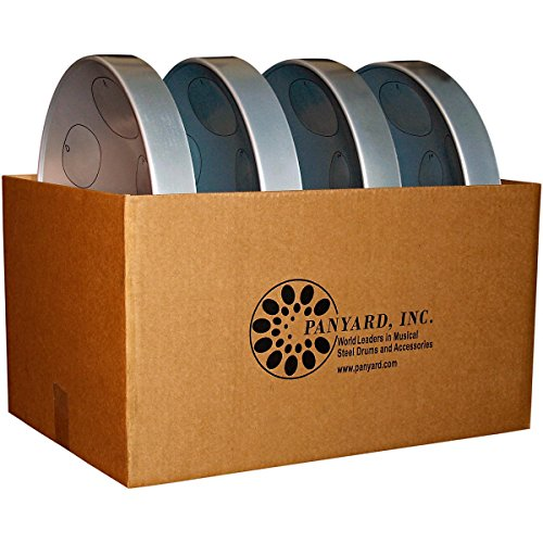 Panyard Jumbie Jam Educator's Steel Drum 4-Pack with Table Top Stands Silver (Steel Pan Case compare prices)