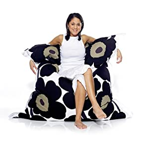 6-Foot Fatboy Marimekko Unikko Extra Large Bean Bag Chair by Fatboy USA LLC