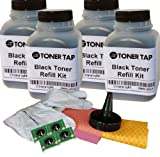 Toner Tap 4 Pack Refill Kit for Hp