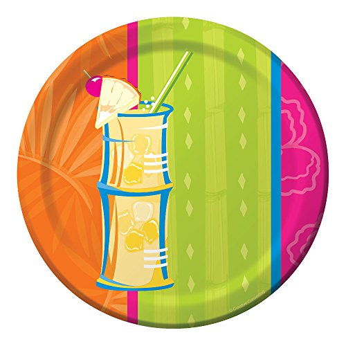 Creative Converting 8 Count Paper Dessert/Lunch Plates, Summer Sippin'