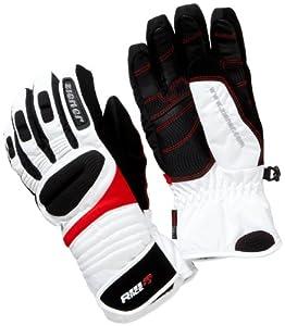 ziener golly gants de ski homme blanc rouge 22 5 cm sports et loisirs. Black Bedroom Furniture Sets. Home Design Ideas