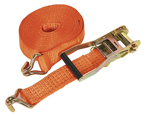 Sealey TD5006J Ratchet Tie Down Polyester Webbing, 50 mm x 6 m, 5000 Kg Load Test