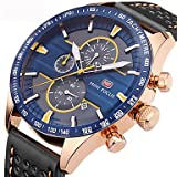 Fashion Watches MINIFOCUS Sport Chronograph Watches Men luxury Brand Waterproof Quartz Military Men Wrist Watch Clock Male reloj hombre (Color : Red, Gender : For Men) (Color: Red, Tamaño: For Men)