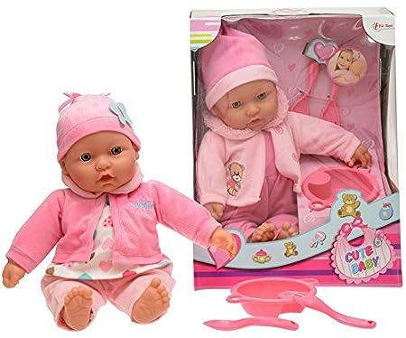 Grande Poupée CUTE BABY Babydoll avec accessoires de cuisine 40cm