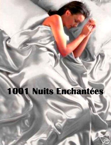 Ideal Textiles - Completo per letto singolo con fodera per piumone/duvet, federa e lenzuola in coordinato, colore: Argento