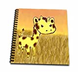 3d Rose Db 32688 2 Cute Giraffe Art Friendly Animals Art For Kids Memory Book, 12 By 12