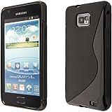 ECENCE Samsung Galaxy S2 i9100 S2 Plus i9105 Silikon TPU case schutz hülle handy tasche cover schale schwarz 13040401