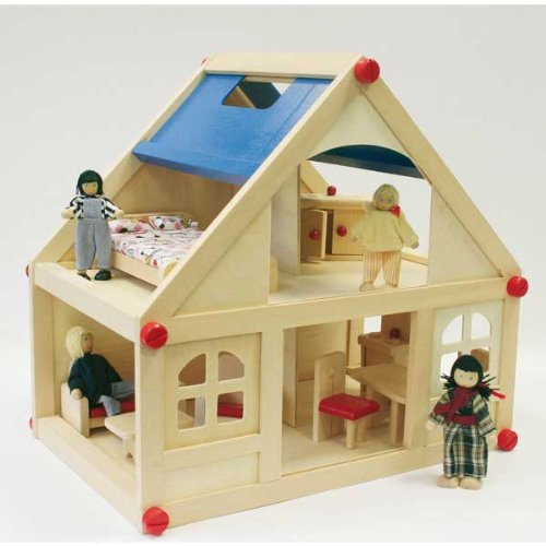 Dolls House With Furniture and Doll Family