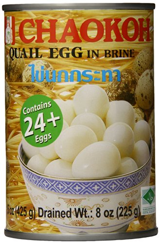 Chaokoh Quail Eggs, 15 Ounce (Pack of 6) (Canned Eggs compare prices)