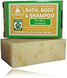 Organic Bath, Body & Face Soap * Tea Tree & Calendula (Oils To Fight Acne Causing Bacteria) * (1) 3.75 OZ BAR) * Thick Lather & Amazing Scent *No Chemical Perfumes, Fragrances, Sulfates, or Parabens!