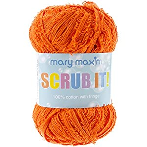 Mary Maxim Scrub it Yarn, Orange