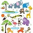 Safari Adventure Decorative Peel & Stick Wall Art Sticker Decals