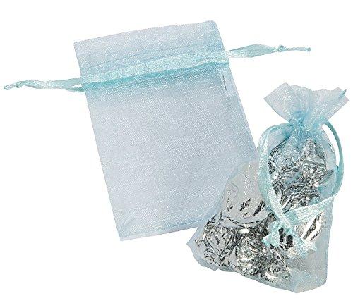 Pastel Mini Organza Drawstring Bags (24 Pack) - 1