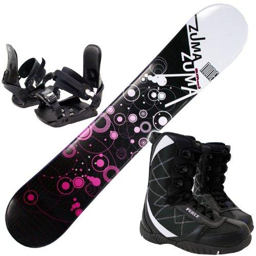 3点セットスノーボード☆ZUMA WAVE-9 金具付き ブーツ付き (ブラック153cm, ブーツ27.0cm)