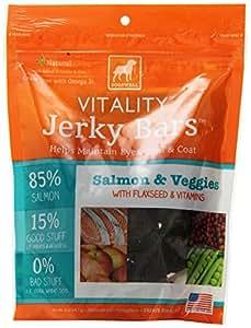 DOGSWELL 842344 Vitality Salmon Veggie Jerky Bar for Pets, 5-Ounce
