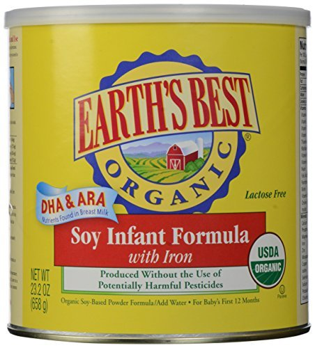 Earths Best Organic Soy Infant Formula With Dha And Ara, 23.2 Ounce -- 4 Per Case. front-385685