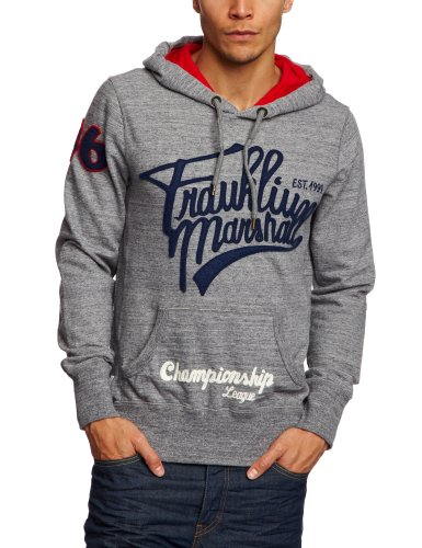 Franklin & Marshall FLMR654S13 Men's Sweatshirt Grey Melange Medium