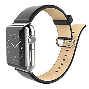 Bestdeal® Apple iWatch Band Original HOCO Classic Series Genuine Leather Strap Wrist Band Replacement with Classic Adapter Buckle for Apple Watch (38 mm)