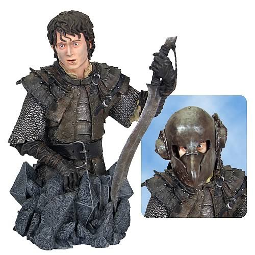 Gentle Giant Lord of the Rings Frodo Mini Bust - Removable Orc Armor Helmet