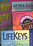 img - for Youth Group Books Set of 5; Great Skits (Youth Specialties), Lifekeys, Study Bible, Game Nights, Guys N Girls Bible Study book / textbook / text book