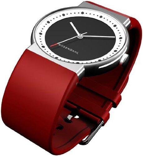 Rosendahl - 43252 - Montre Femme - Quartz - Analogique - Bracelet Caoutchouc rouge