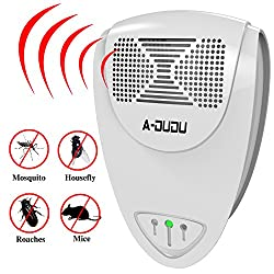 DuDu Pest Control Ultrasonic Repellent Electronic Plug-In Repeller for Insects -Best Products for Cockroach, Rodents, Fly, Roaches Ants , Fleas, Flies,Mice - Indoor Home (white)
