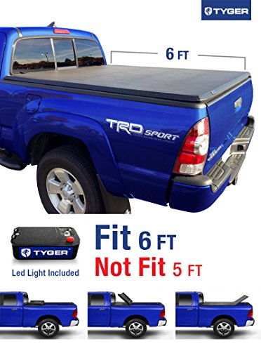 Tyger Auto TG-BC3T1531 Tri-Fold Pickup Tonneau Cover (Fits 2015-2016 Toyota Tacoma 6 feet (72 inch) Trifold Truck Cargo Bed Tonno Cover (NOT For Stepside)) (2015 Toyota Tacoma Bed Cover compare prices)