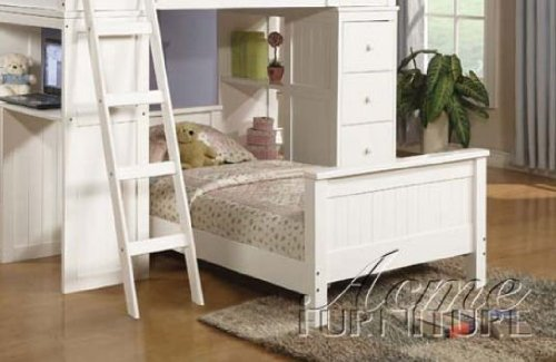 Acme 10978A Willoughby Twin Bed, White front-976995