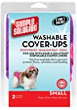 """Simple Solution Washable Diaper Cover-Ups, Small, """"Colors May Vary"""", Pink/Purple or Blue/Black, 2 Pack"""