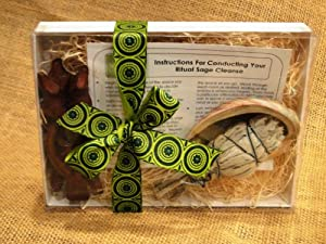 Sage Cleansing, Sage Smudge, Sage Burning Kit - Space Clearing, Home Blessing Gift