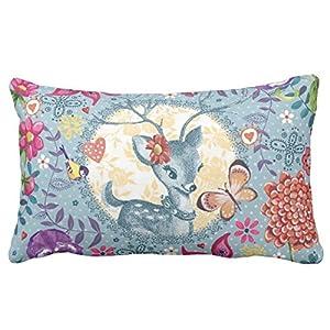 Fun Throw Pillows For Bed : Amazon.com - Deer Flower Fun Kids Pattern - Throw Lumbar Pillow 20*30 Two Sides Bedding Home ...