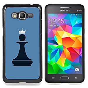 Omega Covers - Snap on Hard Back Case Cover Shell FOR SAMSUNG GALAXY GRAND PRIME - Chess Pawn Queen7600