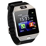 Pandaoo Smart Watch Hot Selling SmartWatch DZ09 For Apple/Samsung/Android/ IOS Phone Bluetooth Wearable Watch Smart Mobile Syn SIM Watch(silver)