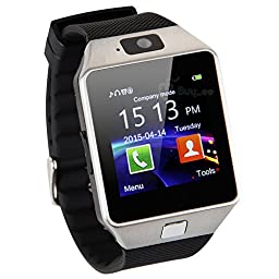 [Prime] Black Bluetooth Smart Wrist Watch Phone Bracelet for IOS Android Samsung iPhone HTC LG