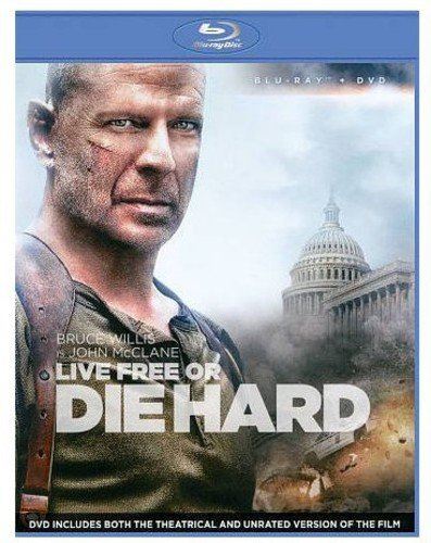 Blu-ray : Live Free or Die Hard (With DVD, 2 Pack, Widescreen, Digital Theater System, AC-3)