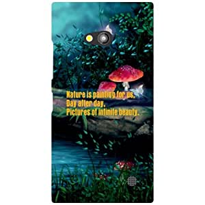 Nokia Lumia 730 Back Cover - Day After Day Designer Cases