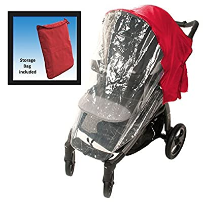 Comfy Baby! Universal Stroller Weather Shield - Fits all Full Size & Jogging Strollers - Red Cover Color: Red Model: 2250R (Newborn, Child, Infant)
