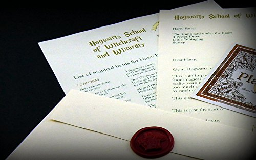 Harry Potter School Acceptance Letter Gift Pack Personalized with Any Name and Address (Personalized Harry Potter compare prices)