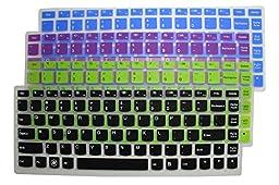 4-Pack Ultra Thin Silicone Gel Keyboard Protector Cover Skin for IBM Lenovo IdeaPad U300 U300s U310 U400 U410 U430 U430p Z400 P400 S300 S400 S405 YOGA 13-IFI, Yoga 2 13\