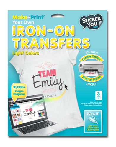 Sticker You 2401 2 Count Iron-On Transfers Decorative Sheet, Light Clothing