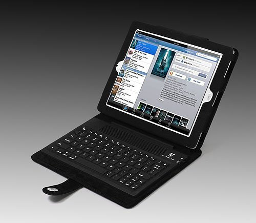 Khomo: Deluxe Leather Case With Bluetooth Keyboard For Apple Ipad 2
