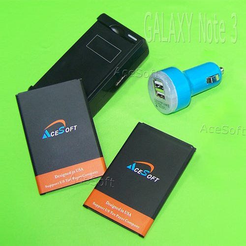 New AceSoft 3300mAh Battery Desktop USB/AC Wall
