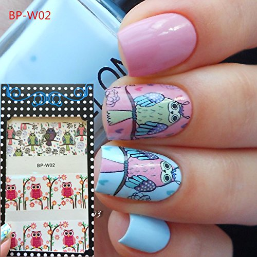 Cute Owl Nail Art Water Decals Transfer Stickers (Opi Silver Nail Polish compare prices)