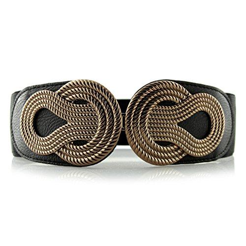 Primaverile ed estiva cintura/Tocco vintage cintura intrecciata/Elastica cintura elastica-E